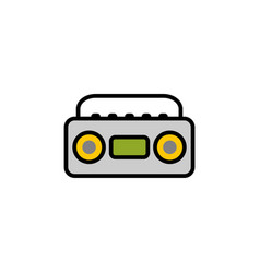 boombox flat icon sign symbol vector image