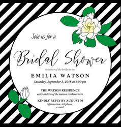 bridal shower invitation card template with hand vector image