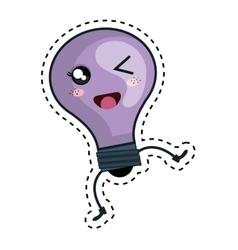 Bulb light kawaii character vector
