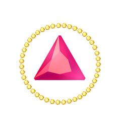 cartoon gem circle frame vector image