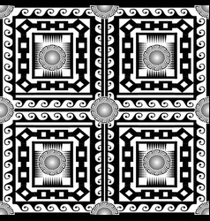 checkered black and white ornamental greek vector image