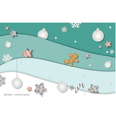 christmas and happy new year winter background vector image