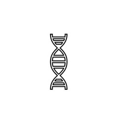 dna line icon element of medical and genetic sign vector image
