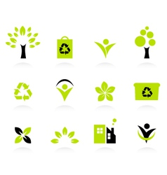 ecology nature and environment icons set vector image vector image