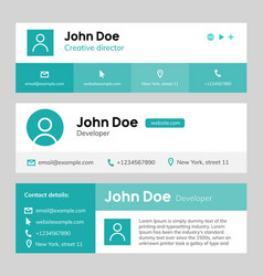 email signature template design corporate mail vector image