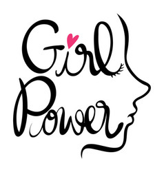 English expression for girl power vector