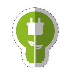 environment bulb plug energy design vector image