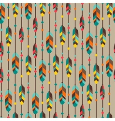 Ethnic seamless pattern in native style with vector