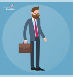 flat design standing businessman vector image