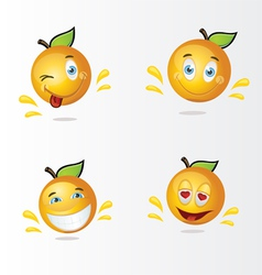 funny oranges vector image