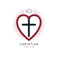god christian love conceptual logo design vector image
