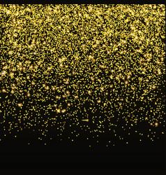 gold glitter confetti falling golden star vector image