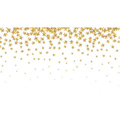 Gold stars falling foil confetti abstract vector