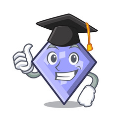Graduation rhombus character cartoon style vector