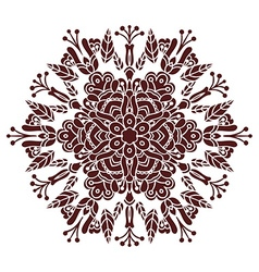 hand drawing entangle mandala element in marsala vector image