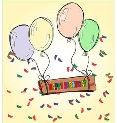 Happy Birthday drawing vector