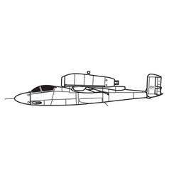heinkel he162 salamander vector image