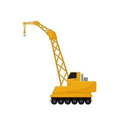 Hydraulic crawler crane cargo transportation vector