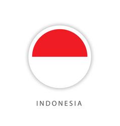 Indonesia circle flag template design vector