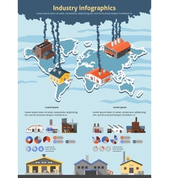 Industry Infographics Set vector image