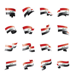 iraqi flag on a white vector image