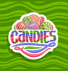 Logo for hard candies vector