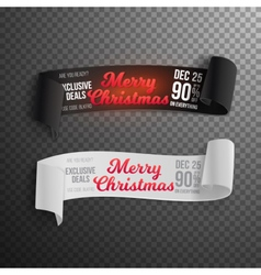 Marry Christmas Sale Banner Template vector