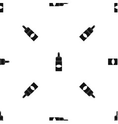 Medical drops pattern seamless black vector