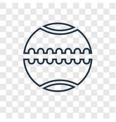Medicine ball concept linear icon isolated on vector