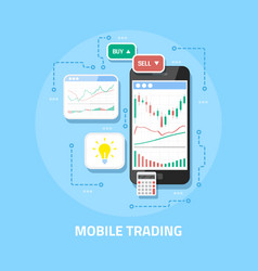 mobile online trading vector image