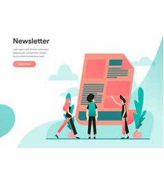 Newsletter concept modern flat design concept vector