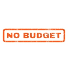 No Budget Rubber Stamp vector