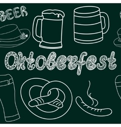 Oktoberfest seamless pattern hand drawn vector