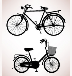 old bicycle detail 2 old bicycles design vector image