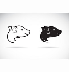 pig head design on white background farm animal vector image