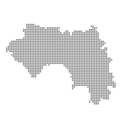 pixel map of guinea dotted map of guinea isolated vector image