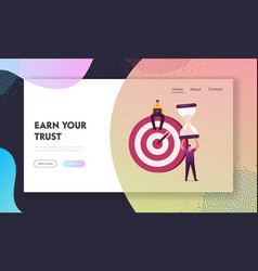 Priorities organize landing page template vector