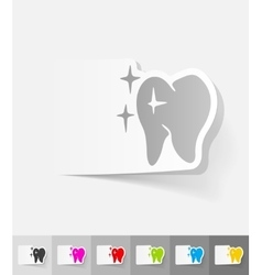 realistic design element tooth vector image