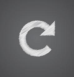 reload sketch logo doodle icon vector image