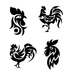 Rooster logo icons vector