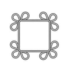 rope decor square vector image