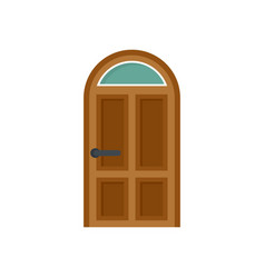 Security door icon flat style vector