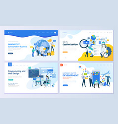 set web page design templates vector image
