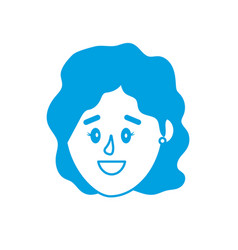 Silhouette avatar woman head with hairstyle design vector