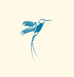 Silhouette hummingbird vector
