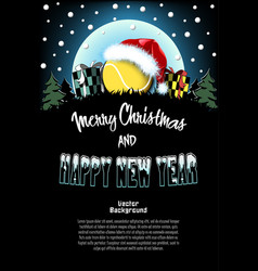 Sport christmas and new year pattern vector