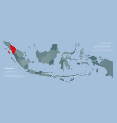 Template indonesia map and province sumatra vector