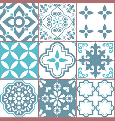 Tile seamless azlejos pattern vector