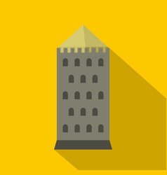tower icon flat style vector image