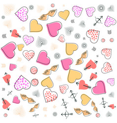 valentines day wedding memphis pattern 80s 90s vector image